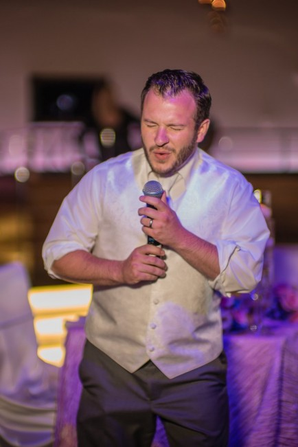 groom singing - Las Vegas wedding